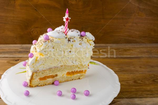 именинный торт копия пространства торт рождения продовольствие Сток-фото © TasiPas