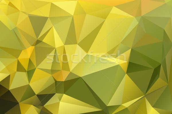 Arany zöld alacsony citromsárga absztrakt terv Stock fotó © TasiPas