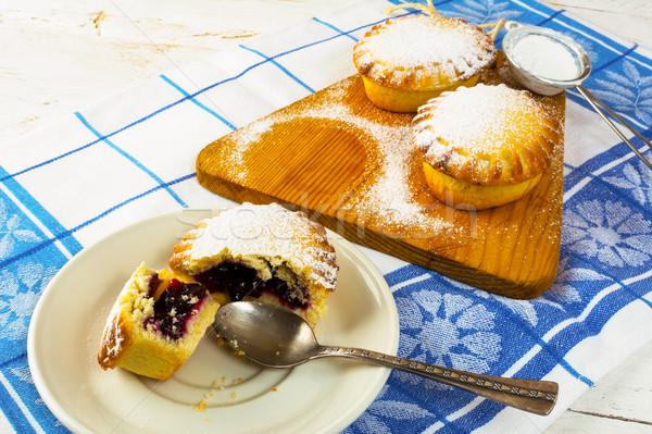 Stock photo: Sweet pie on the white plate