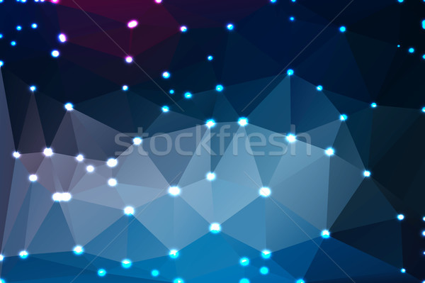 Deep and pale blue geometric background with lights Stock photo © TasiPas