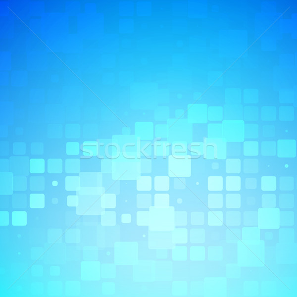 Blue and light turquoise glowing rounded tiles background  Stock photo © TasiPas