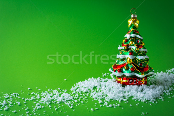 Kerstboom christmas ornament kerstmis boom sneeuw Stockfoto © TasiPas