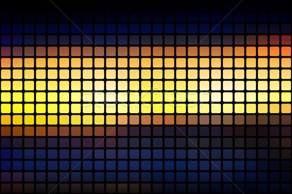 Kék citromsárga narancs fekete absztrakt mozaik Stock fotó © TasiPas