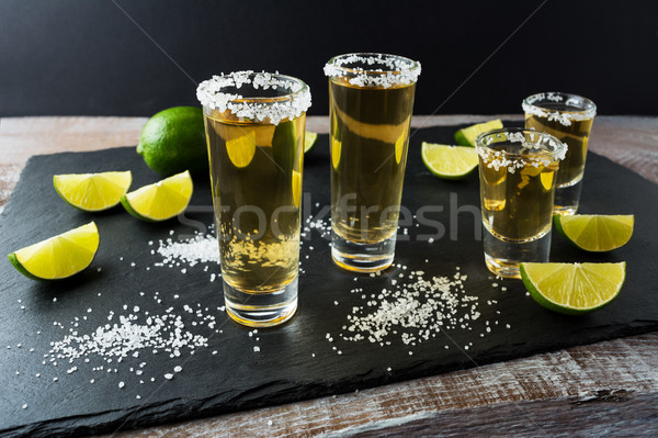 テキーラ 石灰 黒 石 強い アルコール ストックフォト © TasiPas