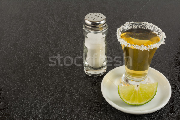 Or tequila noir coup mexican alimentaire Photo stock © TasiPas