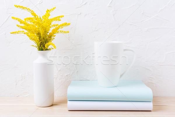 Blanche café cappuccino mug Photo stock © TasiPas
