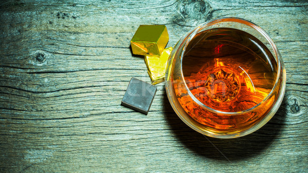 Whisky vidrio chocolate superior vista Foto stock © TasiPas