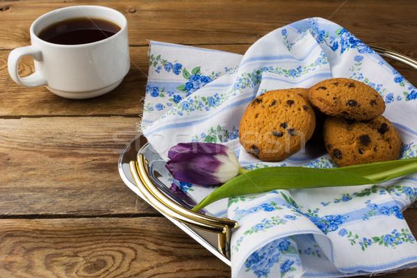 茶碗 クッキー トレイ カップ 茶 ストックフォト © TasiPas