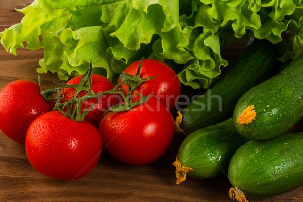 томатный огурца зрелый овощей свежие овощи Сток-фото © TasiPas