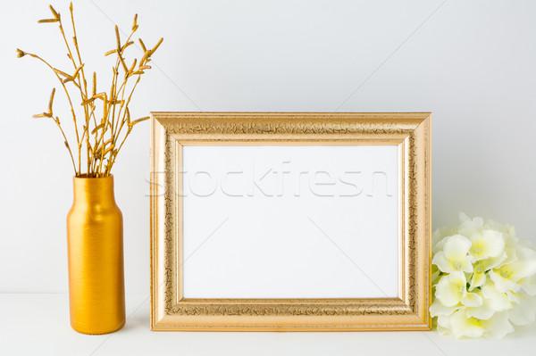 пейзаж золото кадр плакат продукт Сток-фото © TasiPas