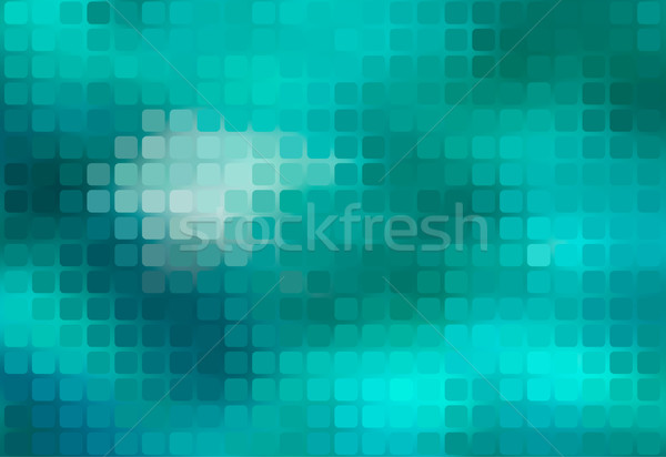 Turquoise green abstract rounded mosaic background Stock photo © TasiPas