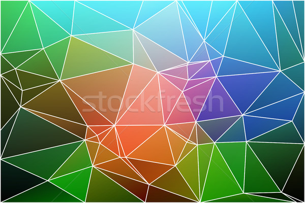 Pink green blue geometric background with mesh. Stock photo © TasiPas