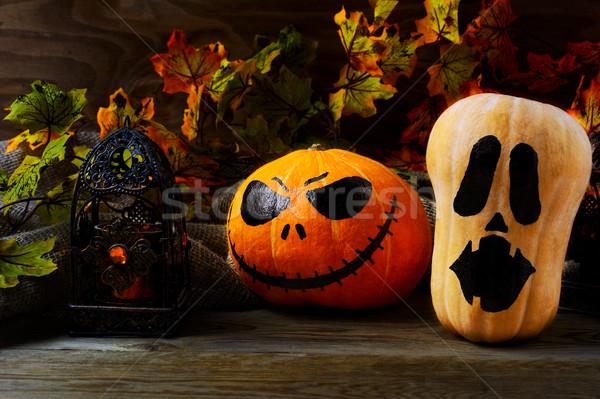 Хэллоуин украшенный темно деревенский символ Сток-фото © TasiPas