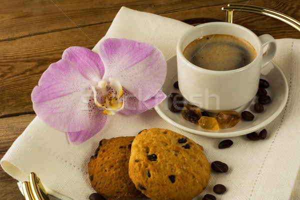 Coffee cup and cookies Stock photo © TasiPas