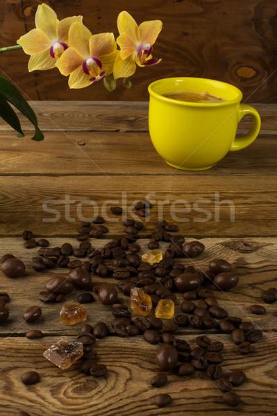 コーヒーカップ 蘭 垂直 カップ コーヒー 強い ストックフォト © TasiPas