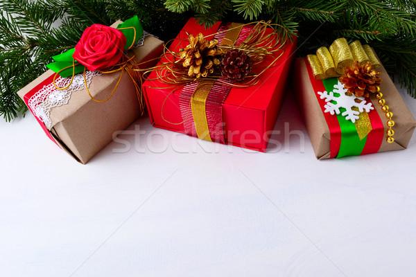 Рождества украшенный рождественская елка ель Сток-фото © TasiPas
