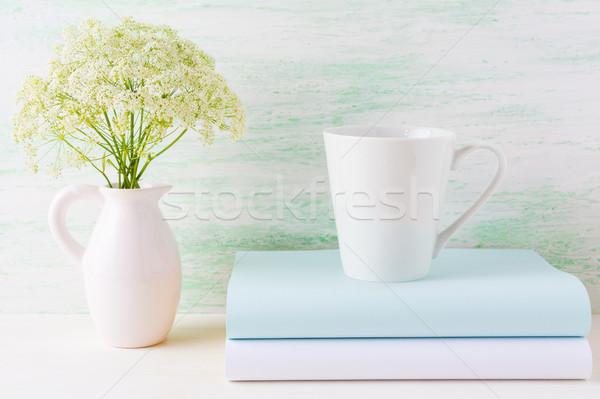 コーヒーマグ 薄緑 白 コーヒーカップ ストックフォト © TasiPas