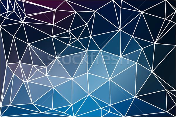 Głęboko blady niebieski geometryczny streszczenie Zdjęcia stock © TasiPas