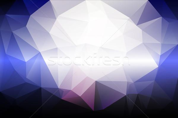 Blady różowy niebieski niski streszczenie projektu Zdjęcia stock © TasiPas