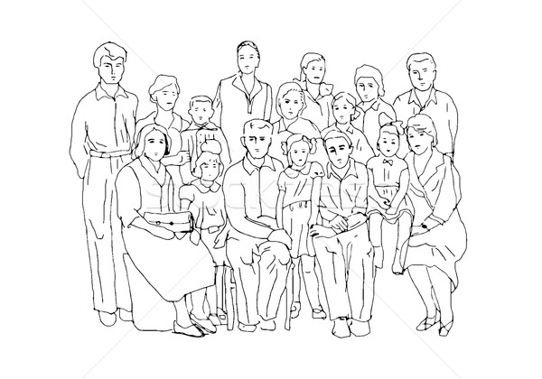 Big family photo Stock photo © tatiana3337