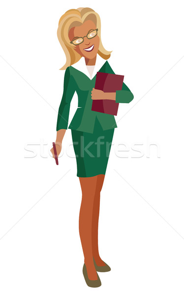 Woman-blonde in a business suit and glasses Stock photo © tatiana3337