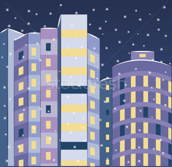 новых здании пейзаж изображение зданий лет Сток-фото © tatiana3337