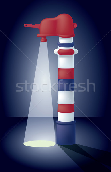 Stock photo: throw (some) light on something / shed (some) light on something