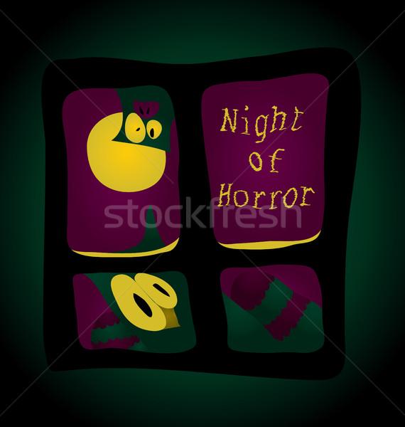 Noc horror terroru na zewnątrz okno dziwne Zdjęcia stock © tatiana3337