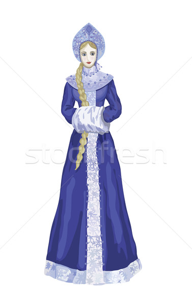 Snow-maiden Stock photo © tatiana3337