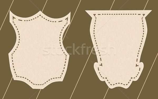 Címkék űrlap óriásplakátok mintázott papír csíkos Stock fotó © tatiana3337