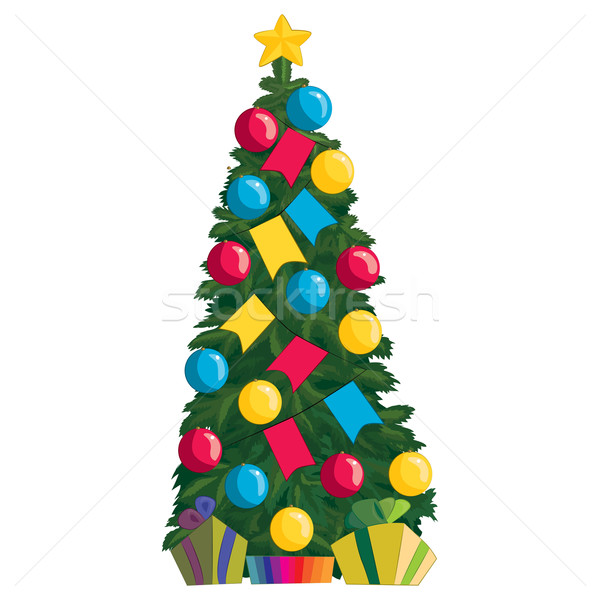 Christmas tree with gifts Stock photo © tatiana3337