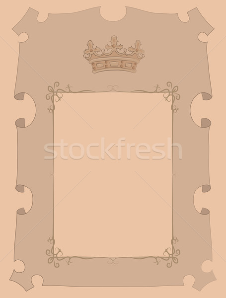parchment with crown Stock photo © tatiana3337