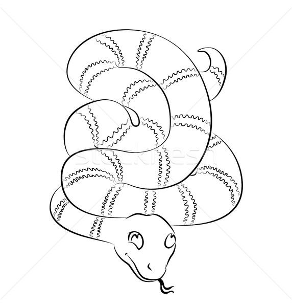 Feketefehér kép kígyó tökéletes könyvek nem Stock fotó © tatiana3337