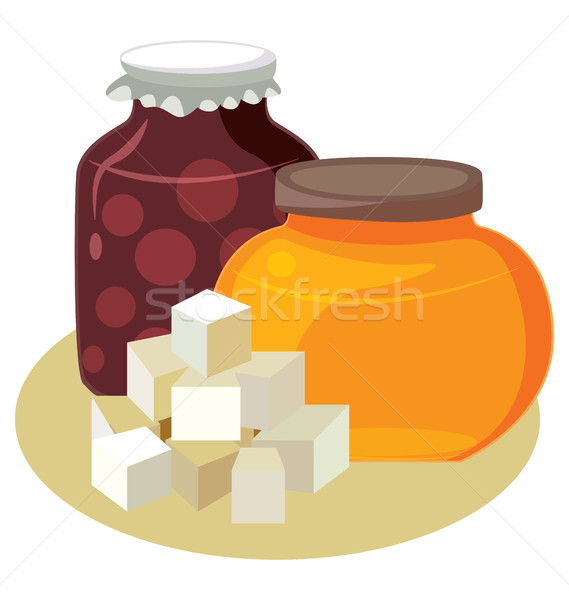 Sugar, honey, jam - simple carbohydrates. Stock photo © tatiana3337