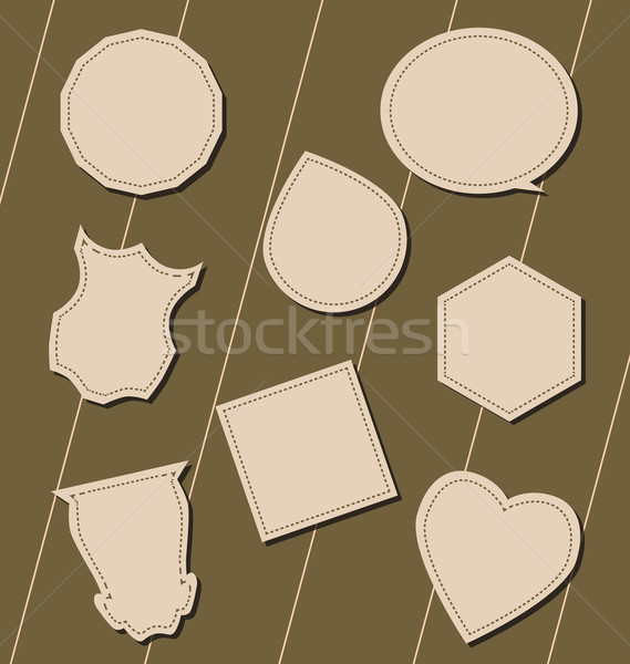 Labels in the form of billboards, heart, polygons, drops Stock photo © tatiana3337