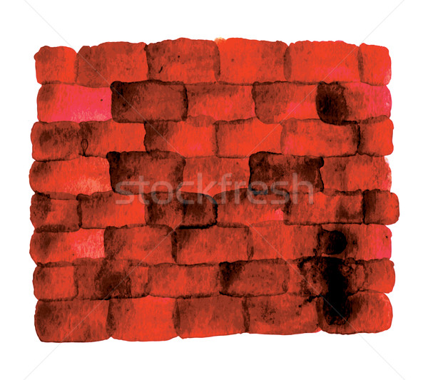 Red Brick wall Stock photo © tatiana3337