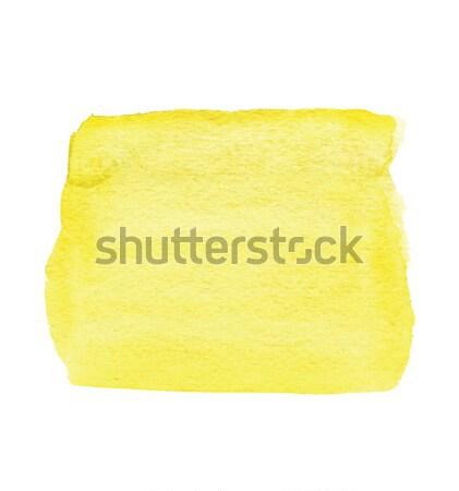 желтый квадратный акварель краской искусства Сток-фото © tatiana3337