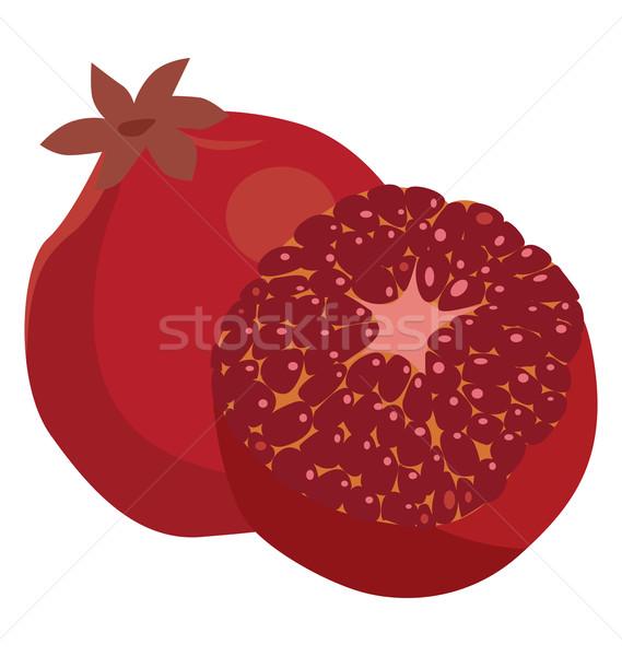 Granaatappel geheel nuttig plantaardige voedsel Stockfoto © tatiana3337