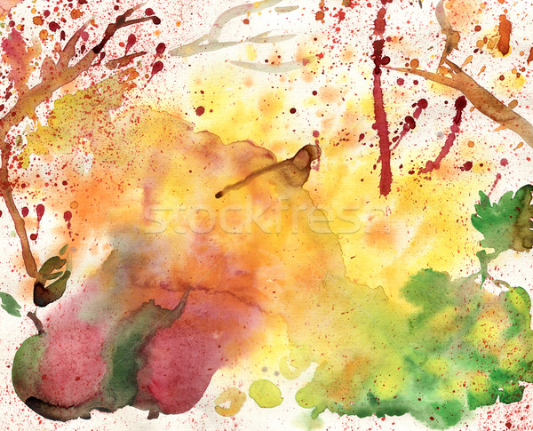 Autumn watercolor background Stock photo © tatiana3337