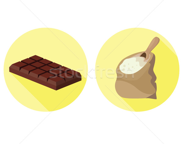 Semolina and chocolate - food is harmful to the intestines Stock photo © tatiana3337