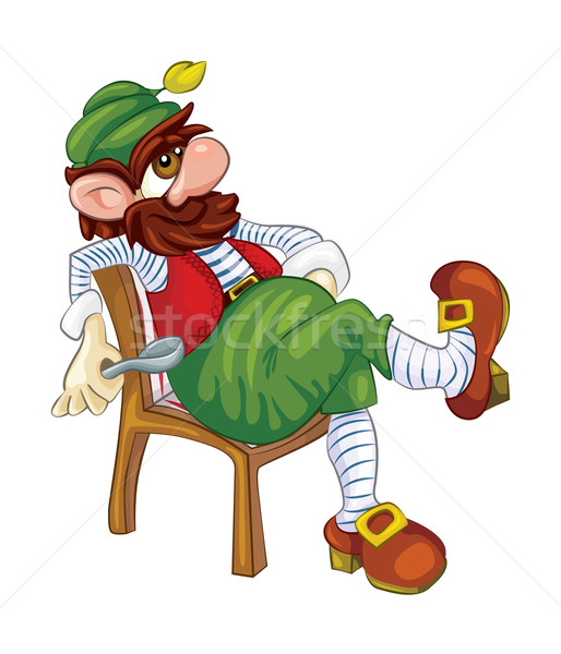 Tubby leprechaun with a metal spoon Stock photo © tatiana3337
