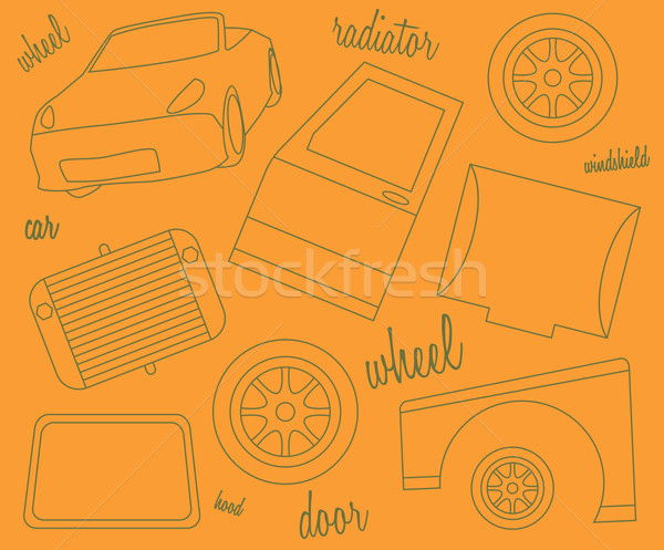 Schematic representation of parts of the car body Stock photo © tatiana3337