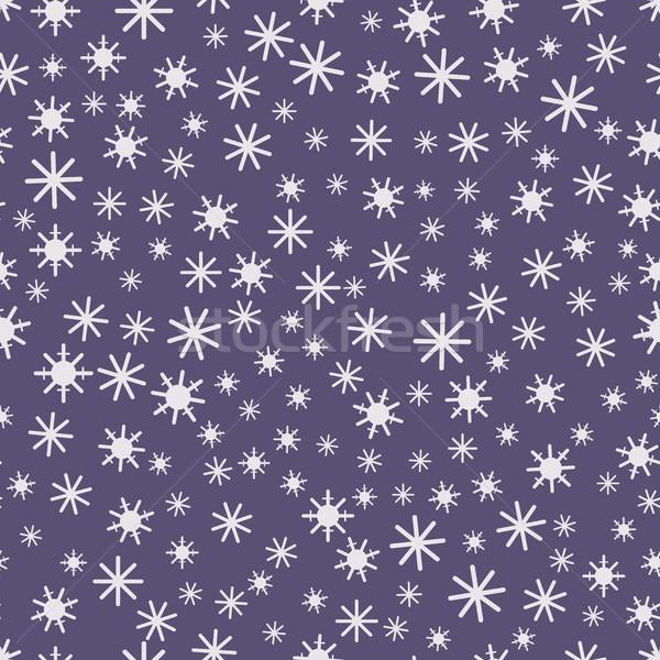 éjszaka havazik ünnepi végtelen minta hópelyhek égbolt Stock fotó © tatiana3337