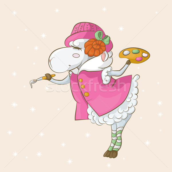 Snow sheep Stock photo © tatiana3337
