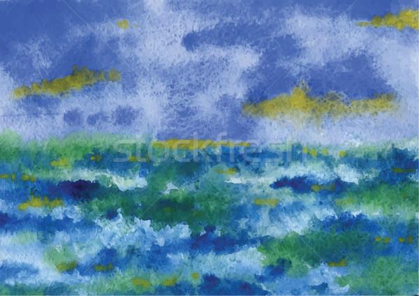 Vihar tenger erős hullámok időjárás szörfözik Stock fotó © tatiana3337