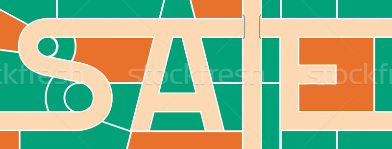 Word sale, beating both directions, a piece of city maps Stock photo © tatiana3337