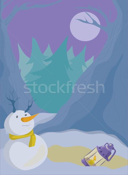 Winter landschap groot weinig plannen Stockfoto © tatiana3337