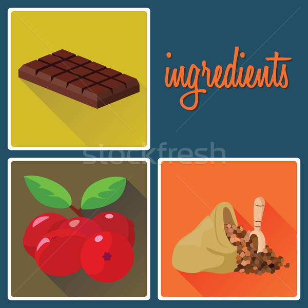 продовольствие Ингредиенты клюква шоколадом удобство значительный Сток-фото © tatiana3337