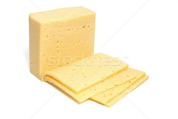 Peynir yalıtılmış beyaz süt koyun yeme Stok fotoğraf © Tatik22