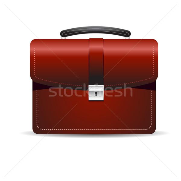 Aktetas uitvoerende zak witte slot koffer Stockfoto © Tatik22
